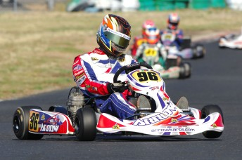 David Sera on his way to victory in Formula 100 Light. Pic: photowagon.com.au