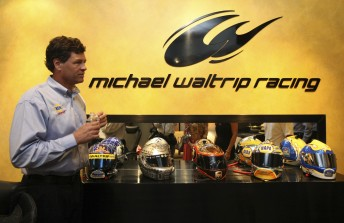Michael Waltrip at his team's headquarters in Cornelius, North Carolina