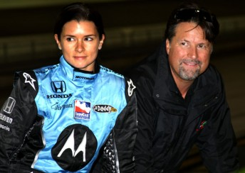 Michael Andretti, right, has now completed his takeover of AGR, paving the way for the re-signing of Danica Patrick