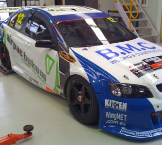 Dean Fiore's Triple F Racing Commodore sports new door sponsorship this weekend