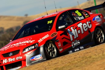 Mitch Evans, David Russell and David Sera each steered the #16 Hi Tec Oils V8 Supercar at Winton yesterday