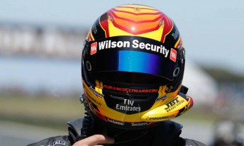 Fabian Coulthard got his first drive of a Walkinshaw Racing Commodore VE at Phillip Island on Friday