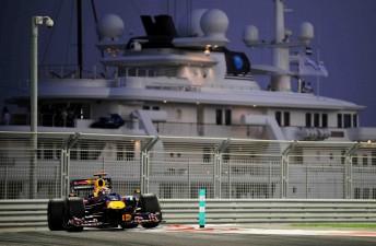 Mark Webber at the Abu Dhabi Grand Prix in November last year