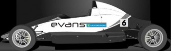 Artwork of the Evans Motorsport Mygale that Adam Graham will race this year in the Formula Ford Championship