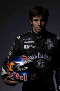 Rick Kelly with his new Red Bull helmet design