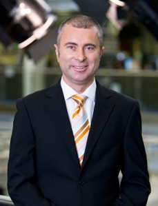Network Ten's F1 host Greg Rust