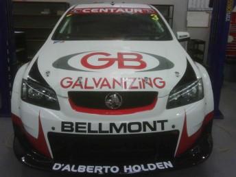 Tony D'Alberto's #3 Centaur Racing Commodore now adorns GB Galvanizing support on the bonnet