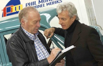 Tim Pemberton with friend and college Peter Brock