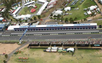 The temporary pit garage will be sourced from either the Homebush or Gold Coast street circuits