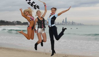 Armor All Gold Coast 600 grid girls Kaitlin Hawkins, Hannah Lindgren and Elle Polson launch the new outfits