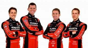 Toll Holden Racing Team 2010: Cameron McConville, Garth Tander, Will Davison and David Reynolds