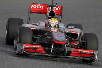 Lewis Hamilton in his McLaren Mercedes