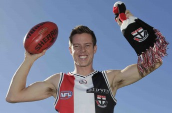 James Courtney is a St Kilda supporter, thanks to his association with personal sponsor Jeld-Wen