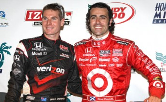 Will Power and Dario Franchitti face off in the IZOD IndyCar Series season finale in Florida