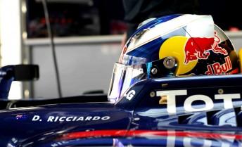 Daniel Ricciardo at teh Abu Dhabi test