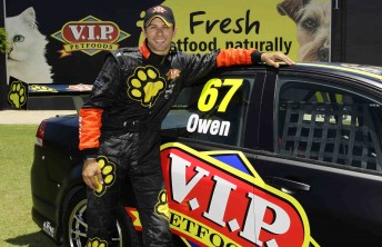 Steve Owen is all smiles with his 2011 V8 Supercars driver