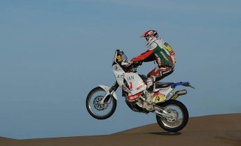 Helder Rodrigues enjoyed himself in the dunes during a strong day for Portugal