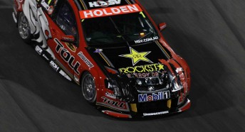 James Courtney's damaged Holden Racing Team Commodore