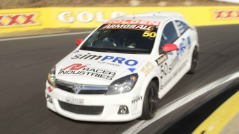 The Astra that Chaz Mostert and Ash Walsh raced during the Bathurst 12 Hour featured support from simPRO