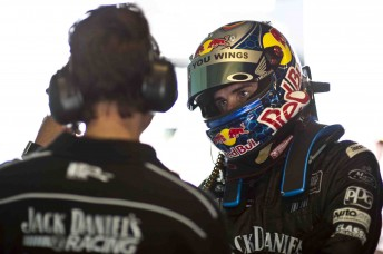 Jack Daniel's Racing driver Rick Kelly is supported by Red Bull