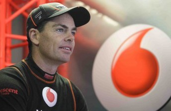 Craig Lowndes will start from pole this evening