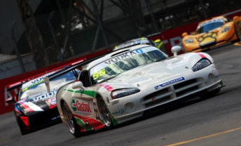 Greg Crick in his Viper at the Clipsal street track last year