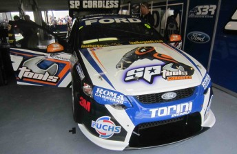 The new-look SP Tools Falcon that will compete at the Clipsal 500 this weekend