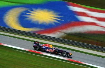 Mark Webber enjoyed a positive start to his Malaysian GP campaign