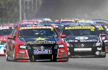 The V8 Supercars could race in India as soon as 2012