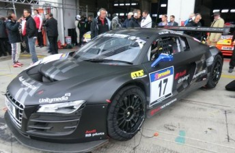 The #17 Audi sustained significant damage in the crash
