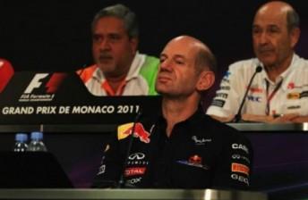 Adrian Newey at the press conference in Monaco