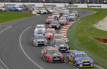 The V8 Supercars pack at the Australian Grand Prix