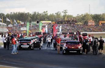 The V8 Supercars at Queensland Raceway