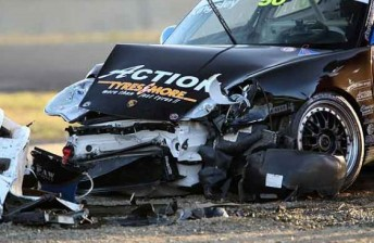 Kingsley's former title winning car sustained heavy damage at Mallala