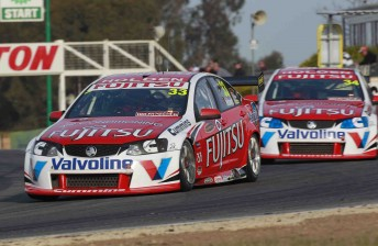 Lee Holdsworth and Michael Caruso at Winton Motor Raceway