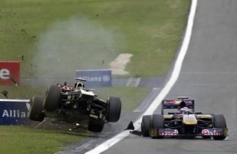 Heidfeld crashed with Sebastien Buemi in Germany