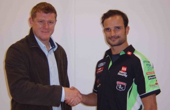 Adam de Borre with Tonio Liuzzi