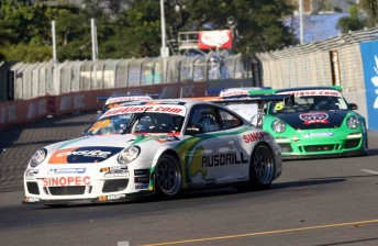 Michael Patrizi leads the Carrera Cup pack at Townsville