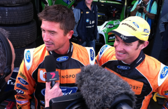 Harry Kewell and Will Davison at Phillip Island this morning