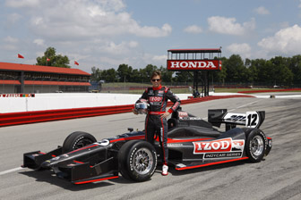 Dan Wheldon with the DW12
