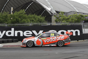 Jamie Whincup has taken provisional pole on the Sydney streets