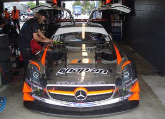 James Brock's Mercedes SLS GT3
