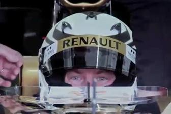 Kimi Raikkonen in the 2010-spec Renault at Valencia