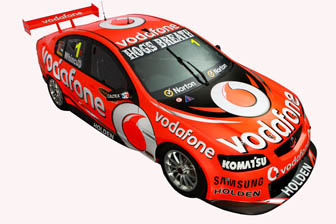 The top of the new Vodafone Commodore