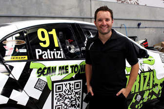 Michael Patrizi with his special Sandown testing livery