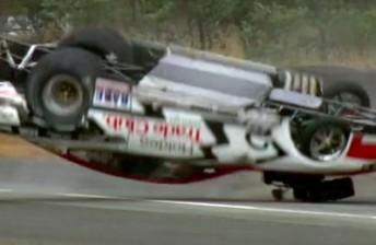 Maurice Fabietti gets upside down in Tasmania