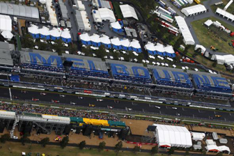 An aerial view of the Australian Grand Prix