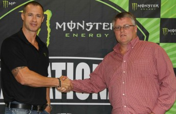 Monster Energy's Adrian Hunter and Kevin Williams - MX Nationals promoter