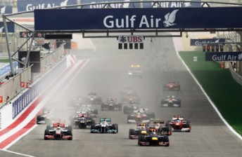 The start of the Bahrain Grand Prix