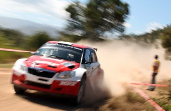 Atkinson holds a strong lead of the rally over teammate Gaurav Gill after Leg 1